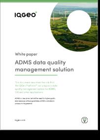 IQGeo ADMS data quality management solution