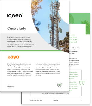 IQGeo and Zayo case study